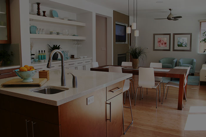 image of kitchen and dining room