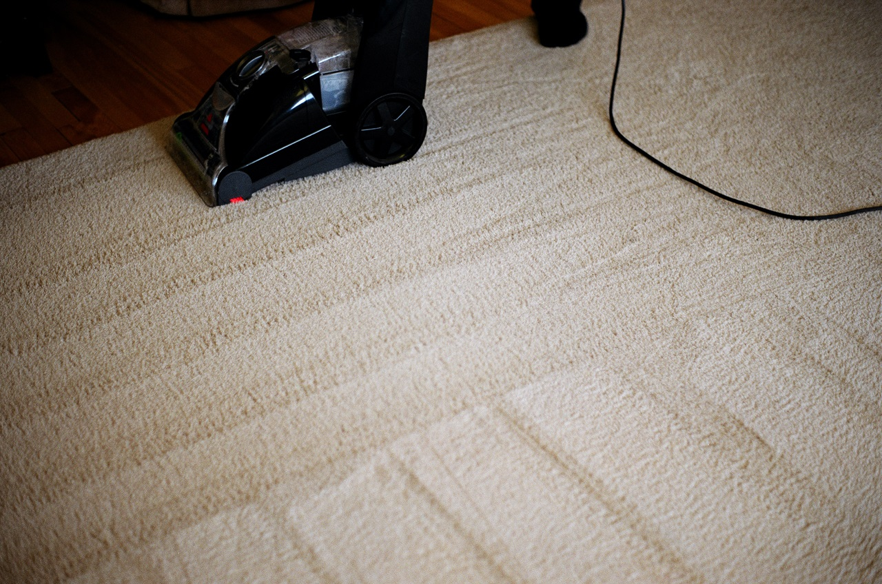 A carpet being deep cleaned in Vancouver, BC